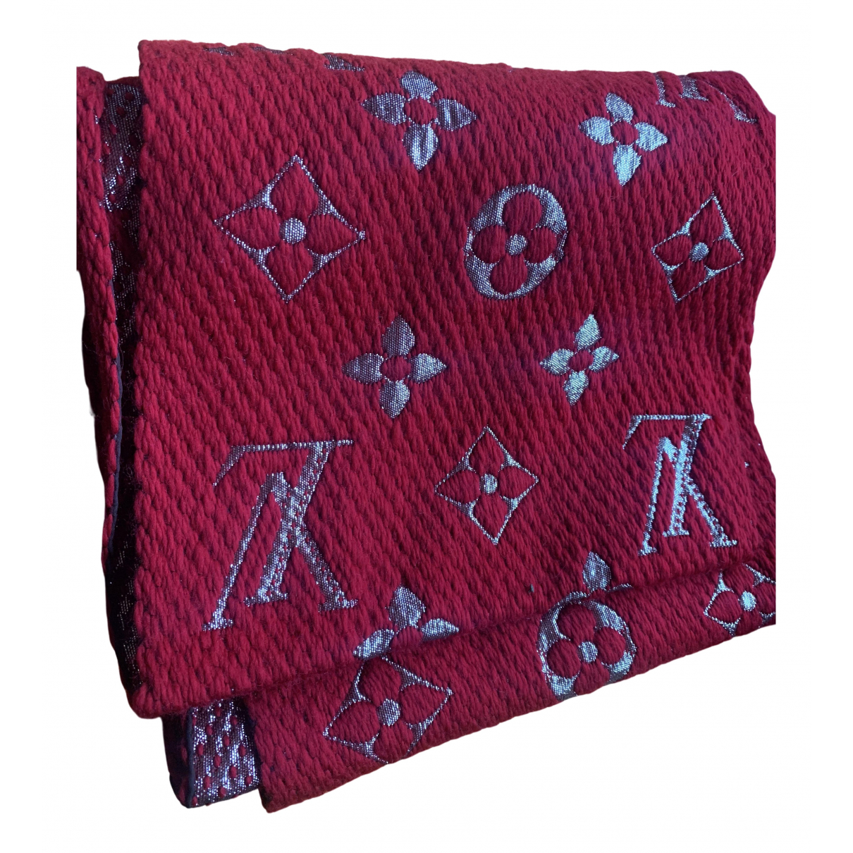 Louis Vuitton Logomania Schal in  Rot Wolle
