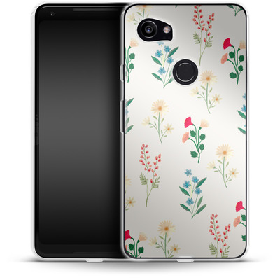 Google Pixel 2 XL Silikon Handyhuelle - Leafy Green von Iisa Monttinen