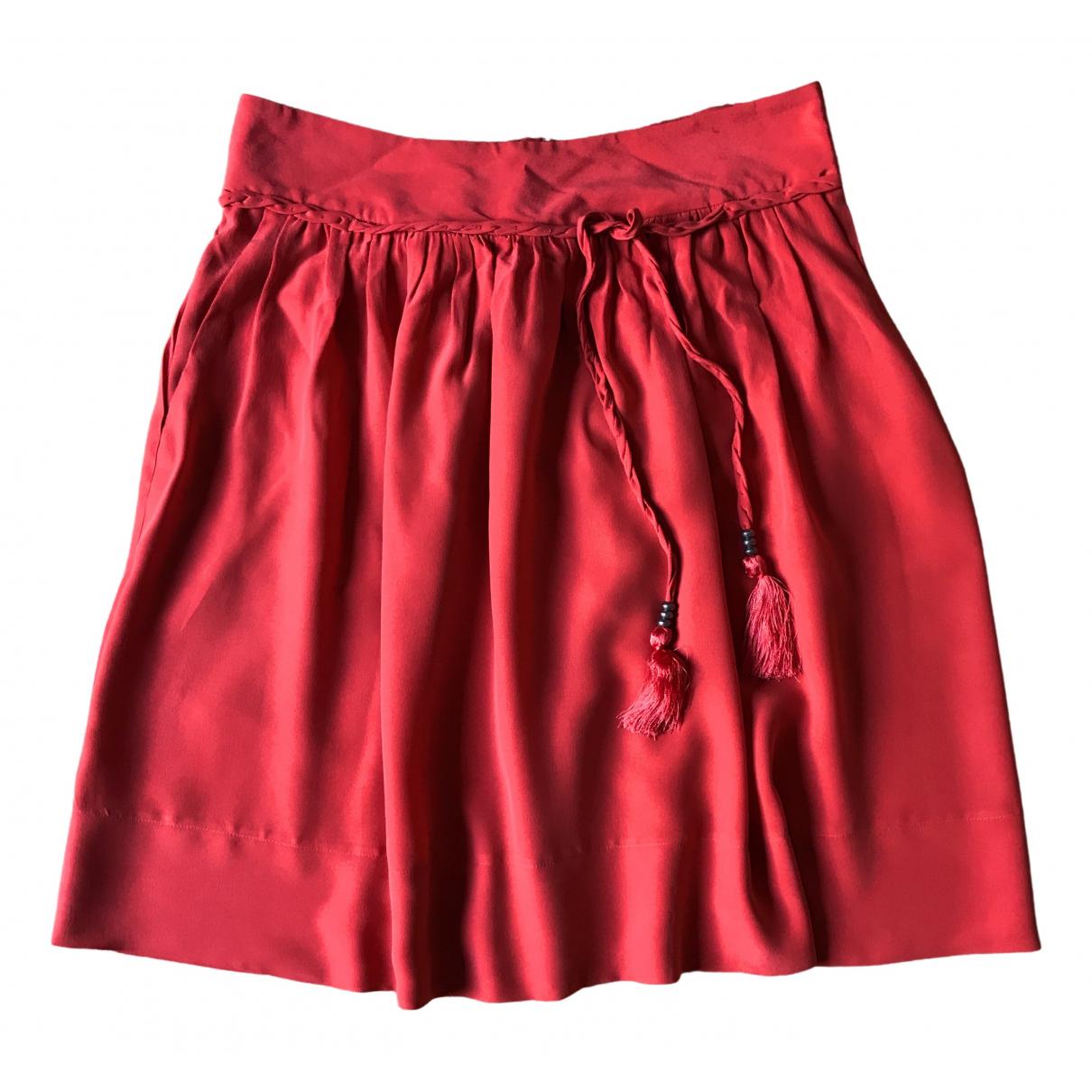 See By Chloe - Jupe   pour femme en soie - rouge
