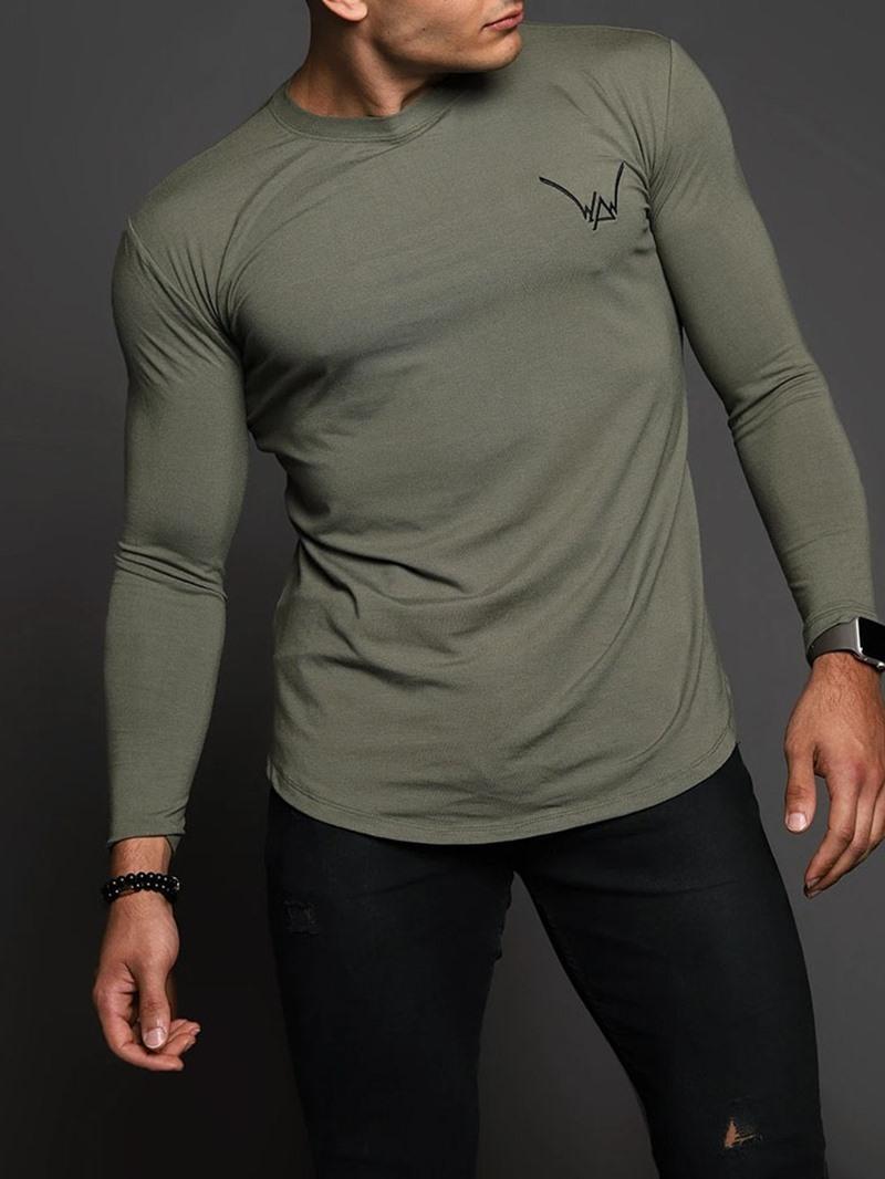 Ericdress Sports Round Neck Slim Pullover T-shirt