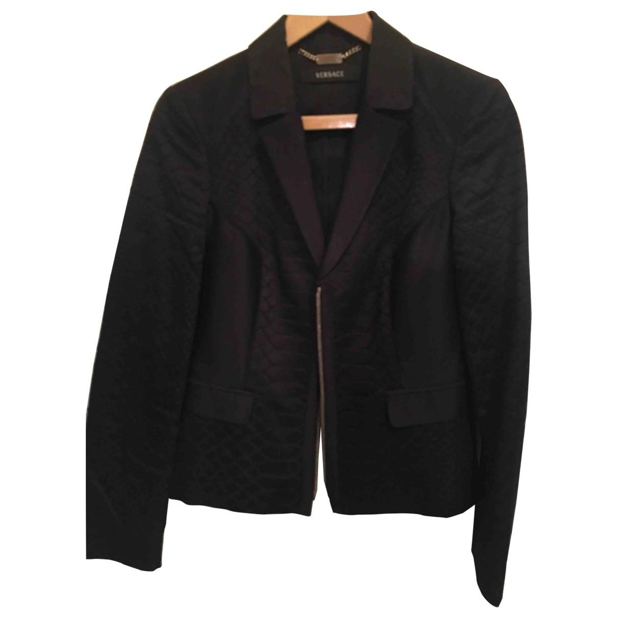 Versace - Veste   pour femme en coton - noir