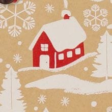 #x7018 Home For Christmas/Krft - Gift Wrap - 24 X 100 - - Gift Wrapping Paper by Paper Mart
