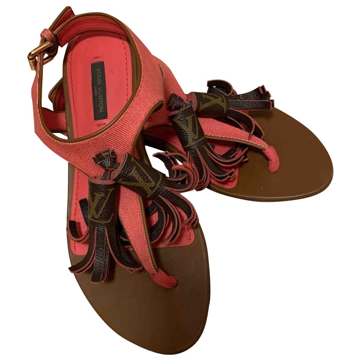 Louis Vuitton - Sandales Century pour femme en toile - marron