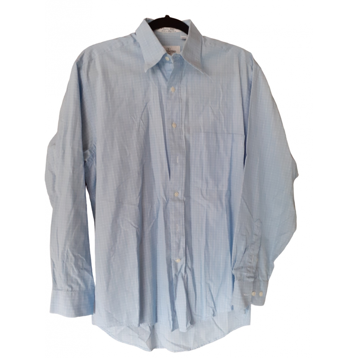 Valentino Garavani \N Blue Cotton Shirts for Men 15 UK - US (tour de cou / collar)