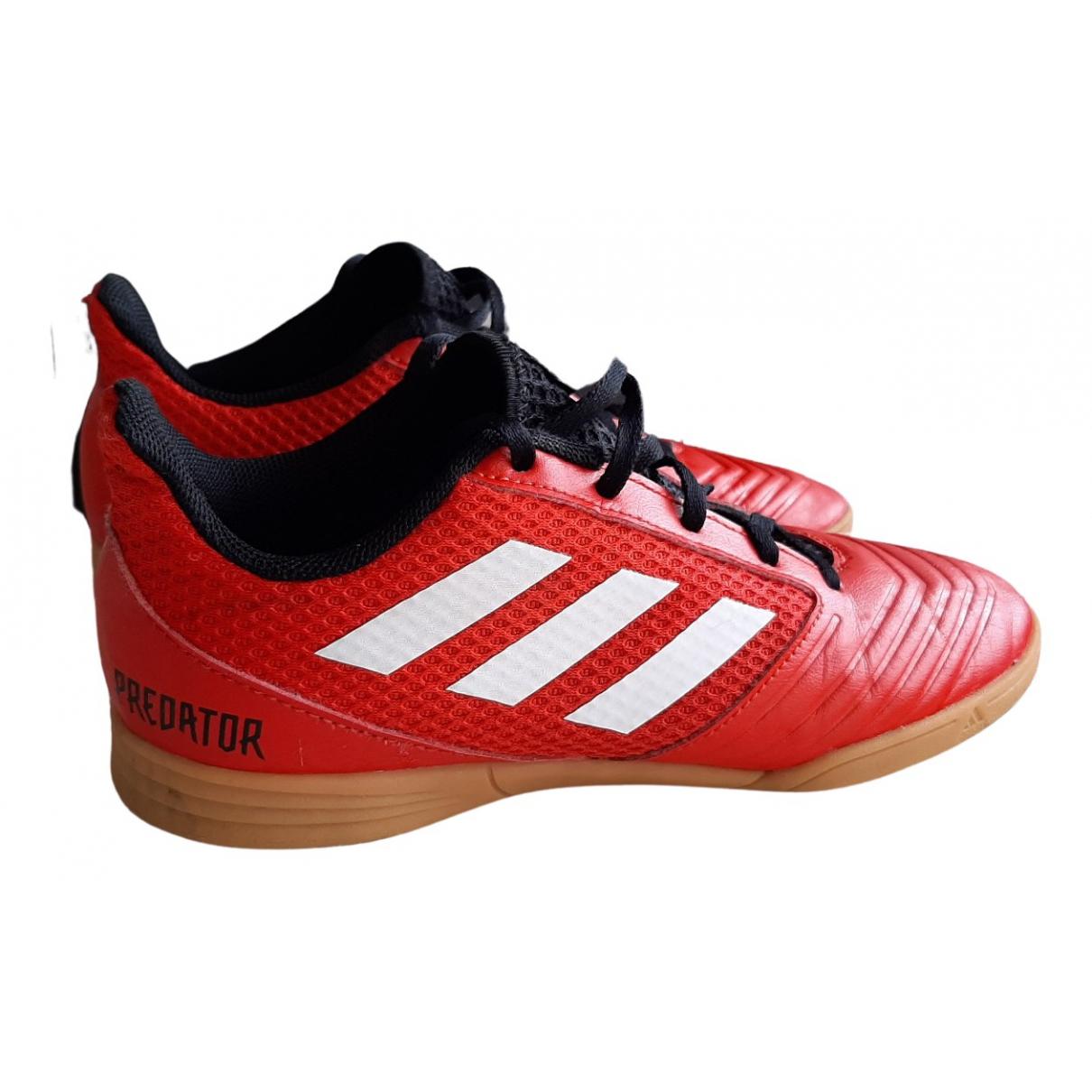 Adidas \N Sneakers in  Rot Leder