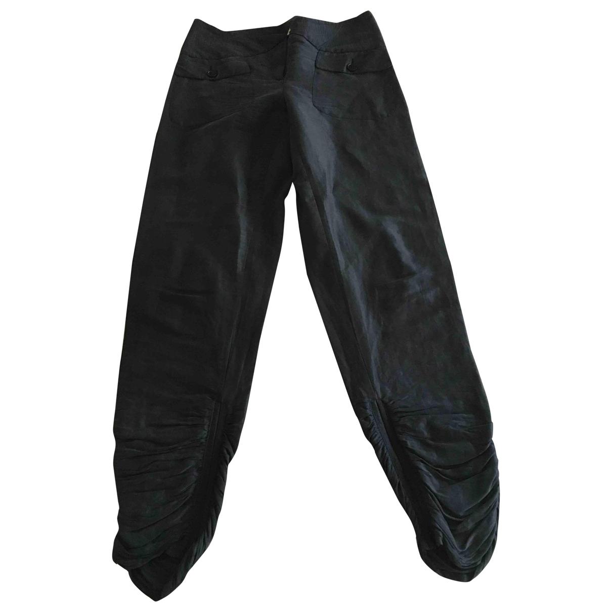 Emporio Armani \N Black Trousers for Women 42 IT