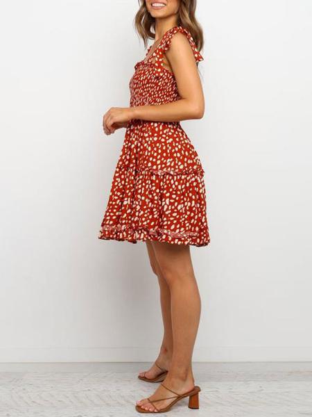 Milanoo Skater Dresses Sleeveless Backless Sexy Summer Dress