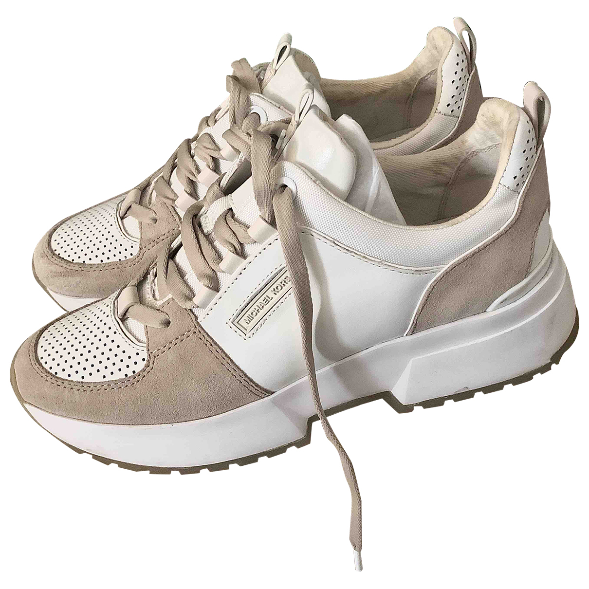 Michael Kors \N Beige Leather Trainers for Women 39 EU