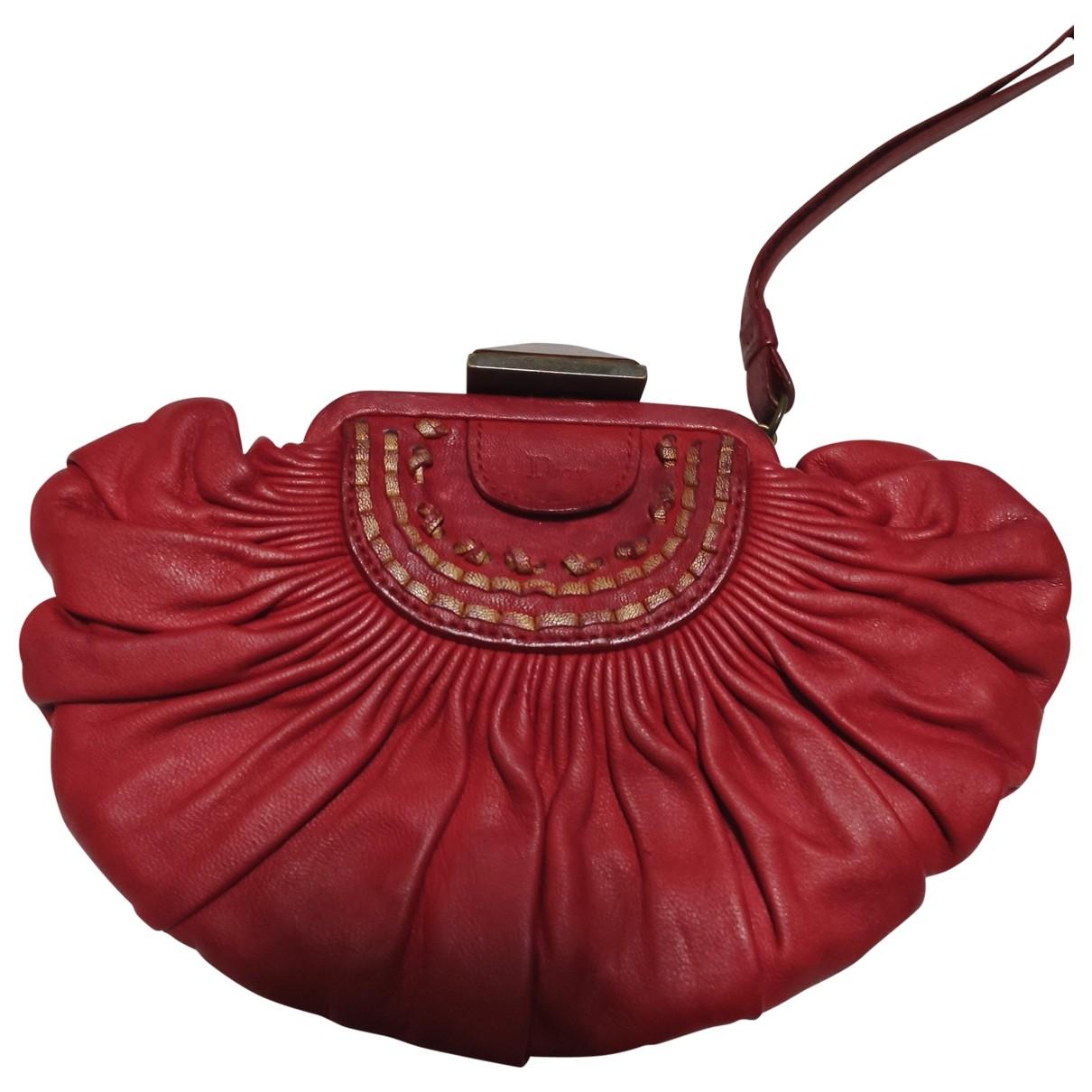 Dior \N Clutch in  Rot Leder