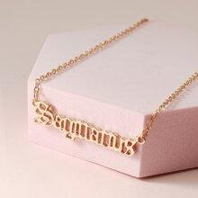 Zodiac Letter Pendant Necklace