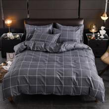 Plaid Pattern Bedding Set Without Filler