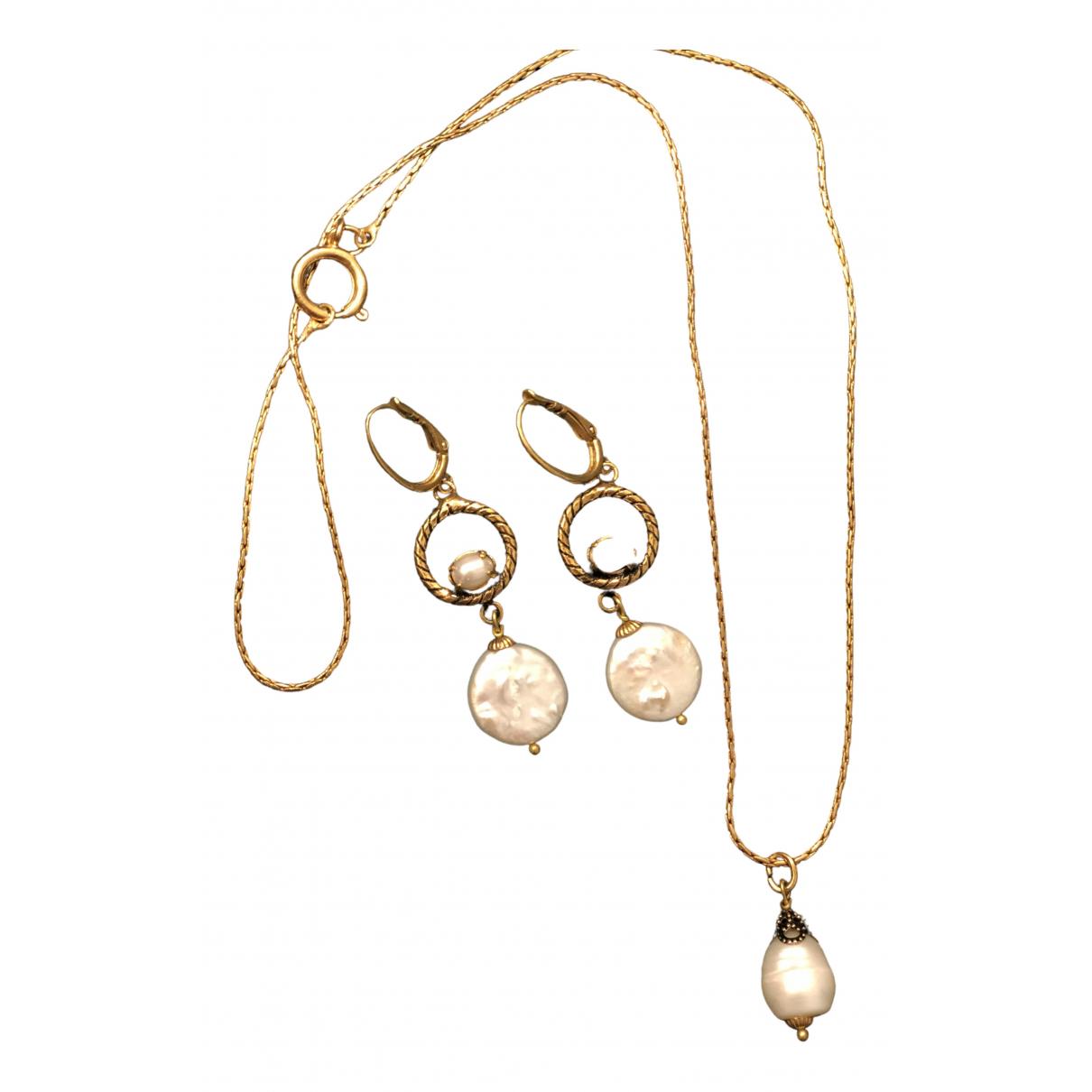 - Parure Nacre pour femme en perles - dore