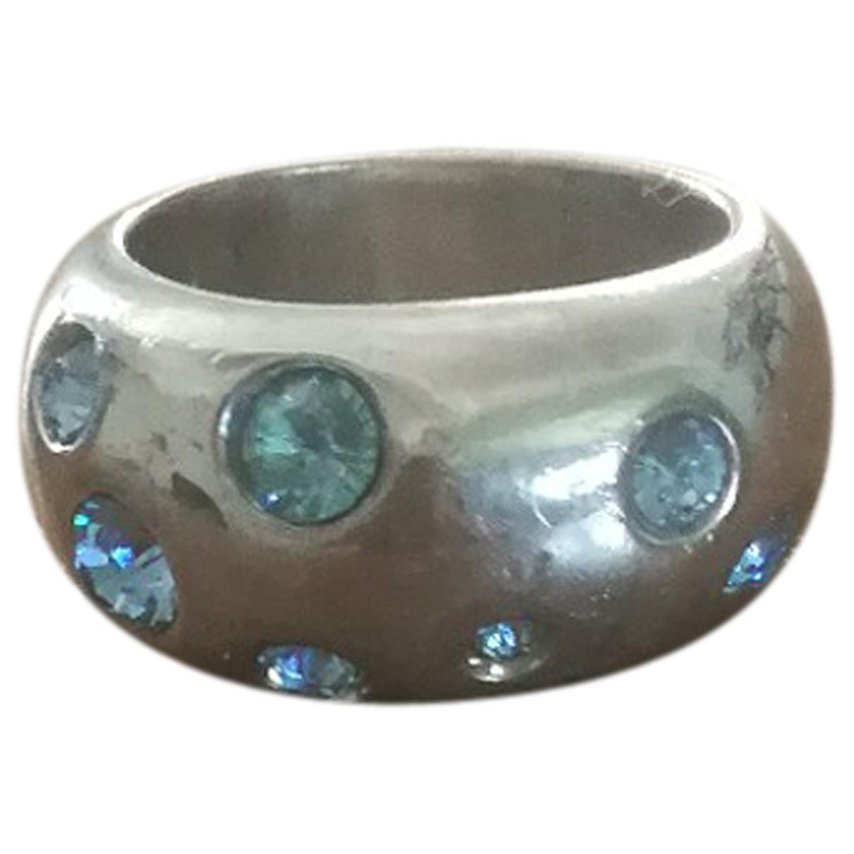 Yves Saint Laurent \N Ring in  Blau Silber