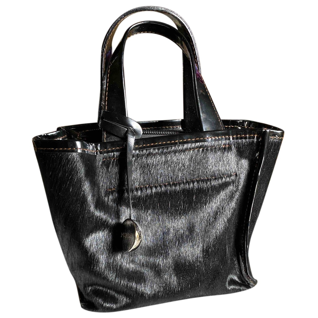 Furla N Black Pony-style calfskin handbag for Women N