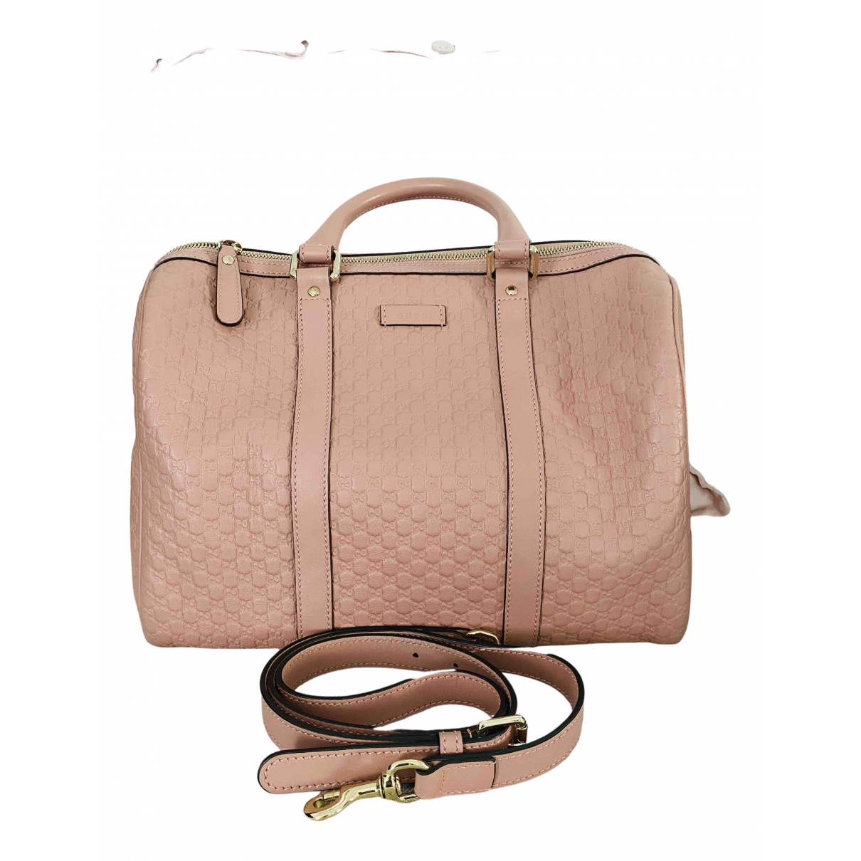 Gucci - Sac a main Boston pour femme en cuir - rose