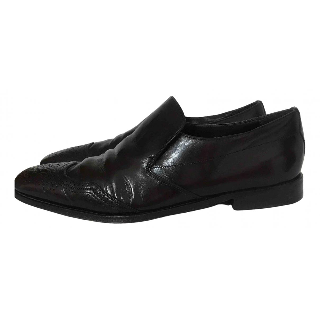 Prada N Brown Leather Flats for Men 7 UK