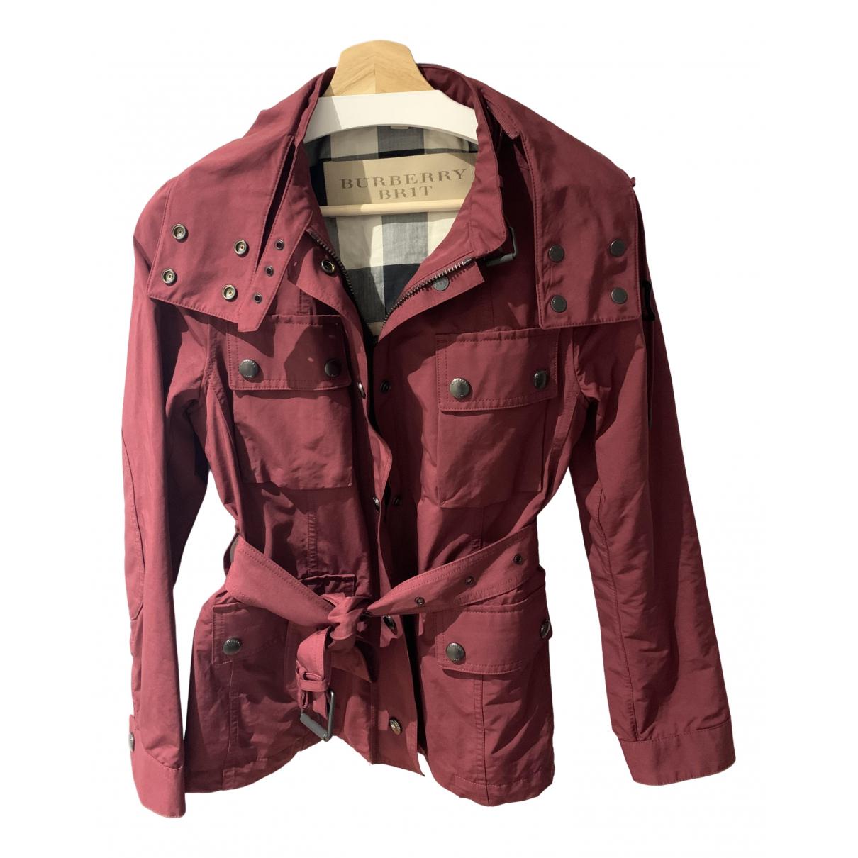 Burberry \N Burgundy Trench coat for Women 10 UK