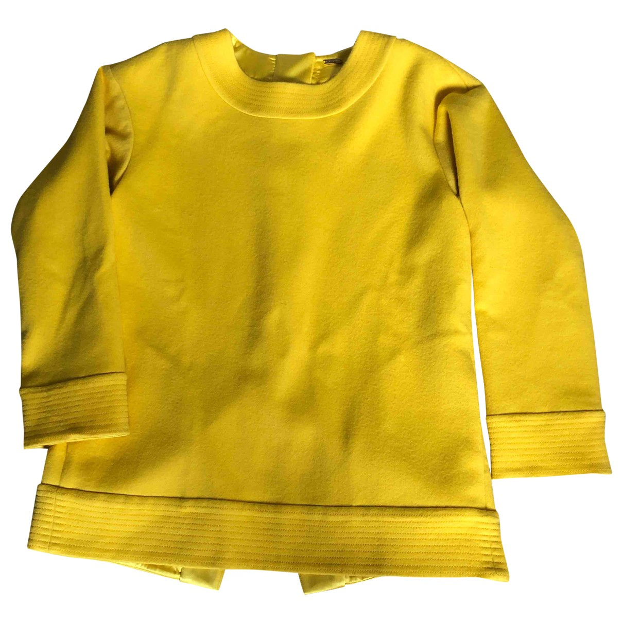 Adam Lippes - Top   pour femme en cachemire - jaune