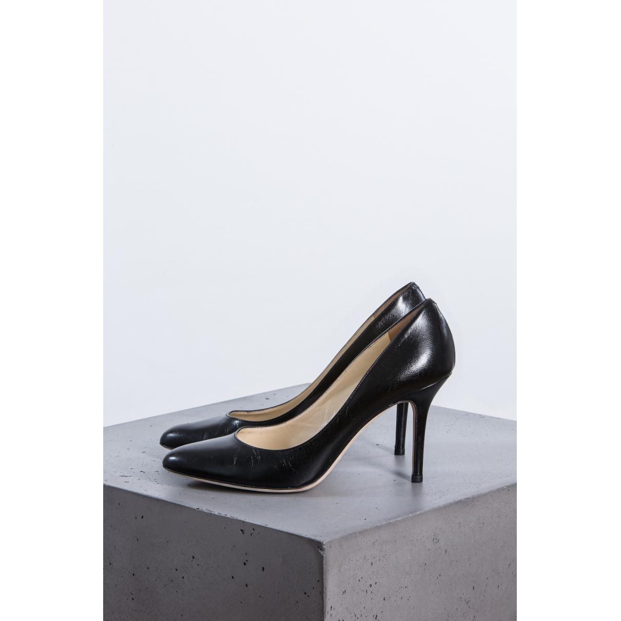 Jimmy Choo \N Black Leather Heels for Women 38.5 EU