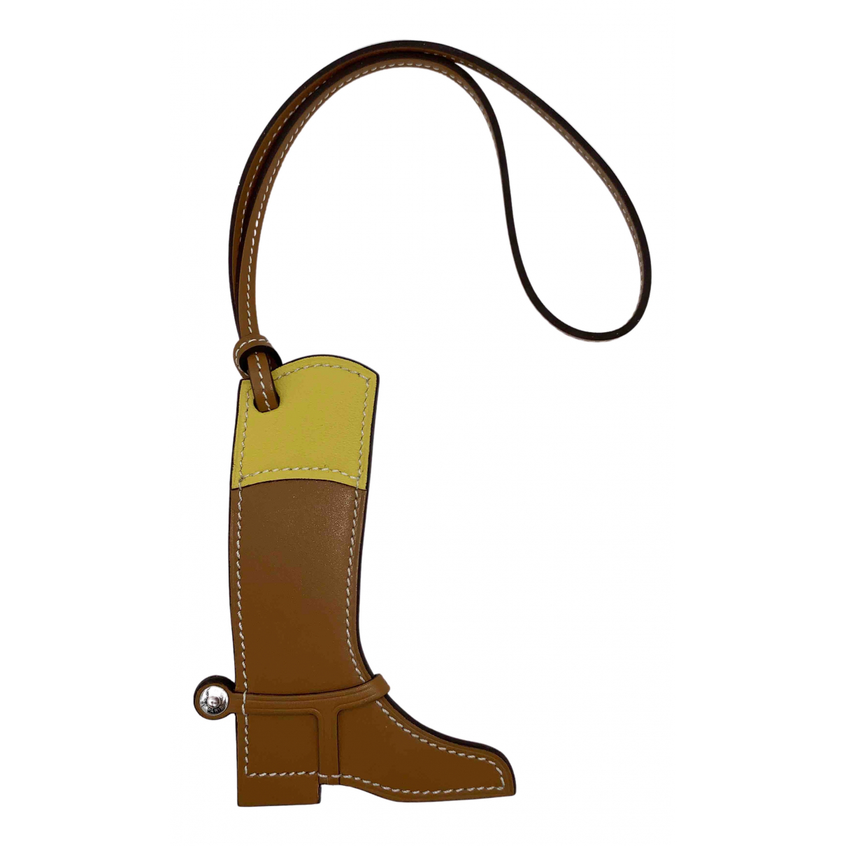 Hermès Paddock Camel Leather Bag charms for Women N
