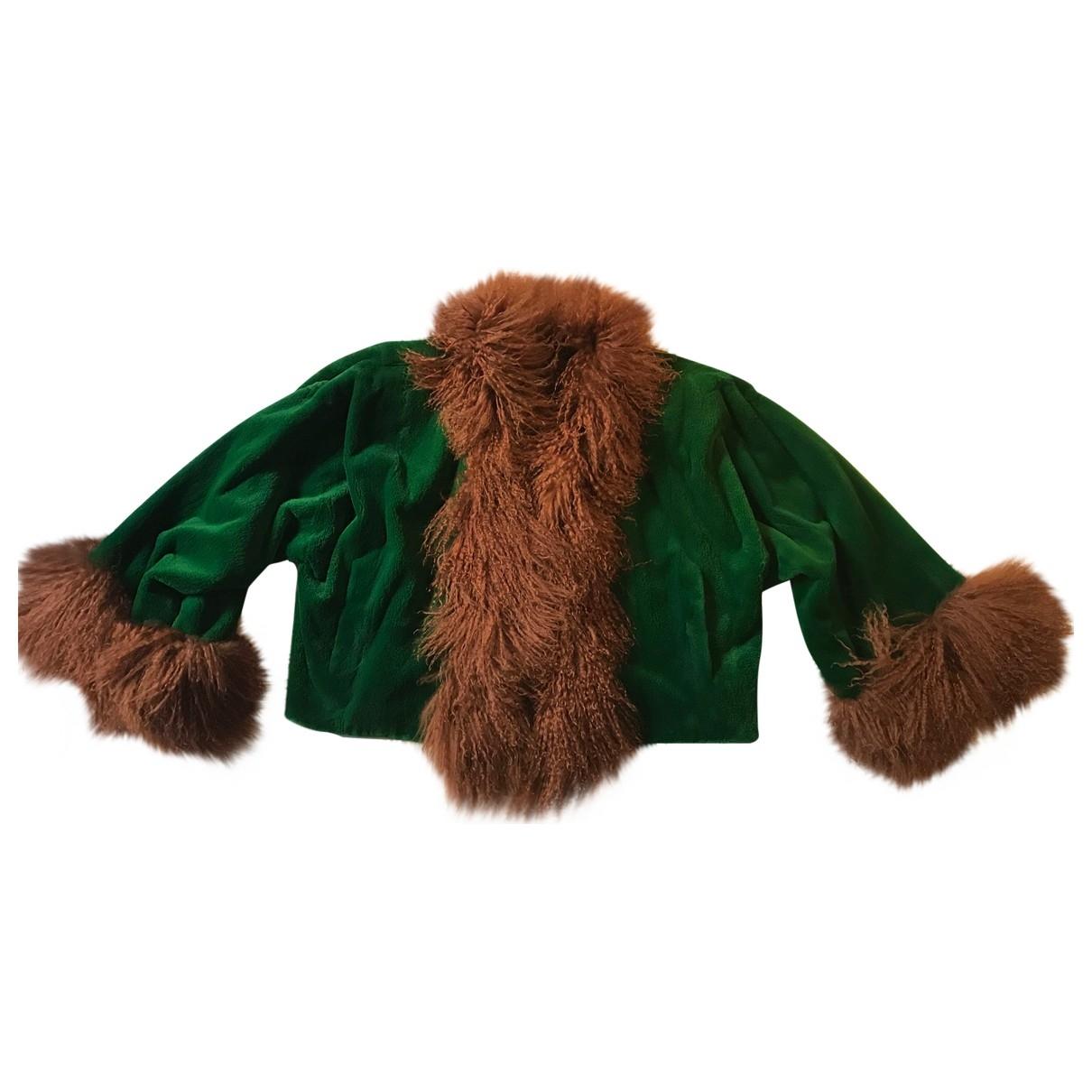 Yves Saint Laurent \N Green Mink jacket for Women 40 FR