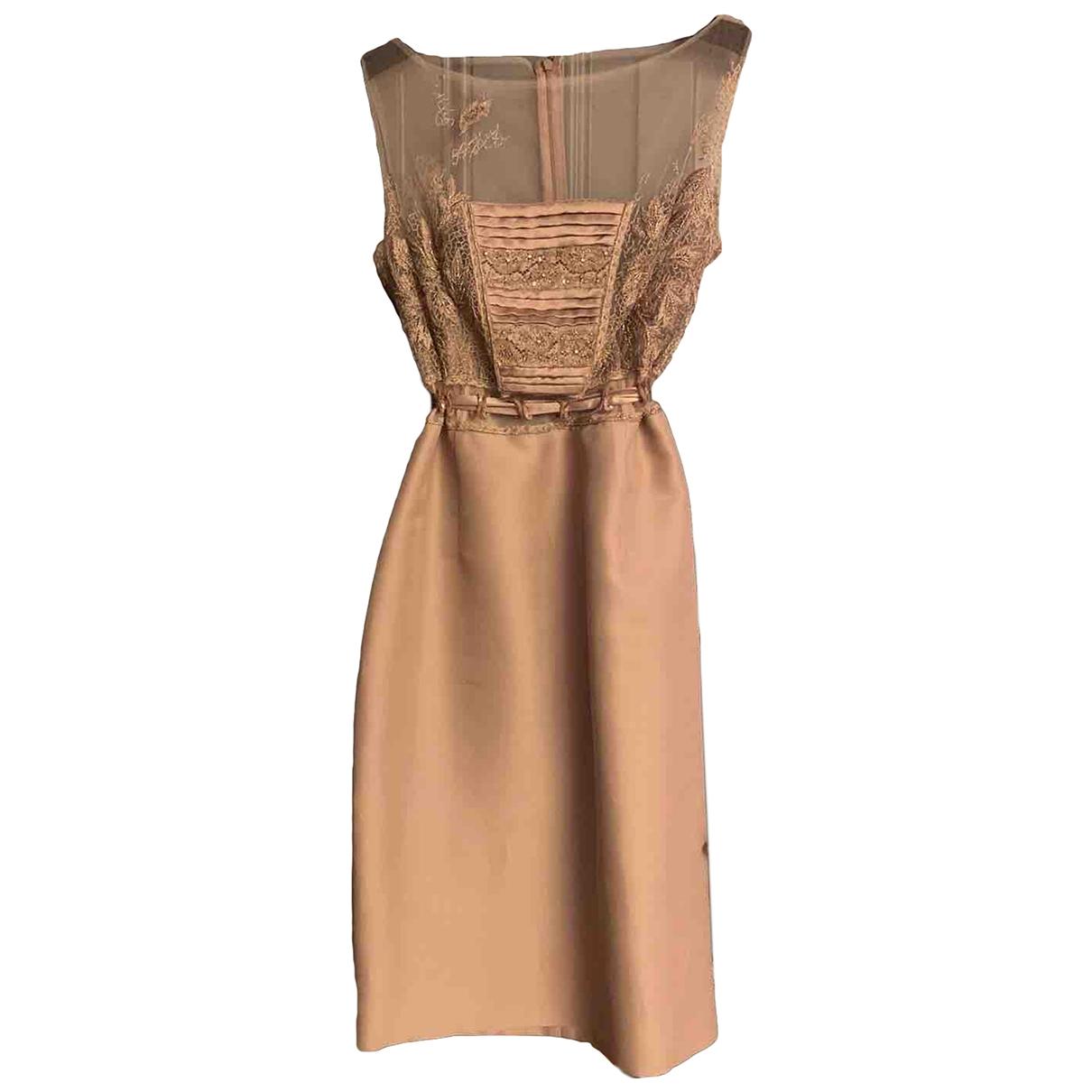 Valentino Garavani \N Beige Silk dress for Women 34 FR