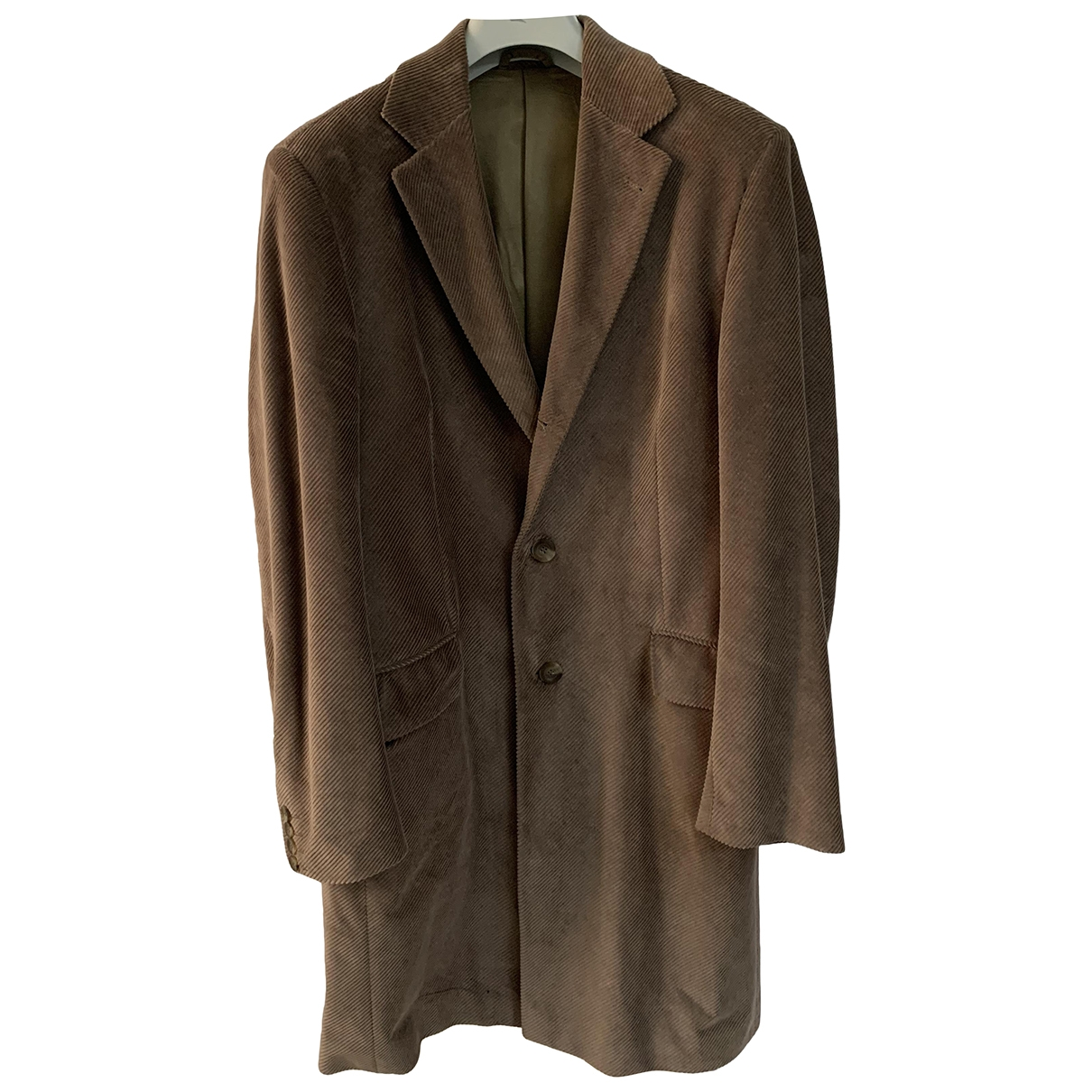 Non Signé / Unsigned \N Camel Suede coat  for Men 50 IT