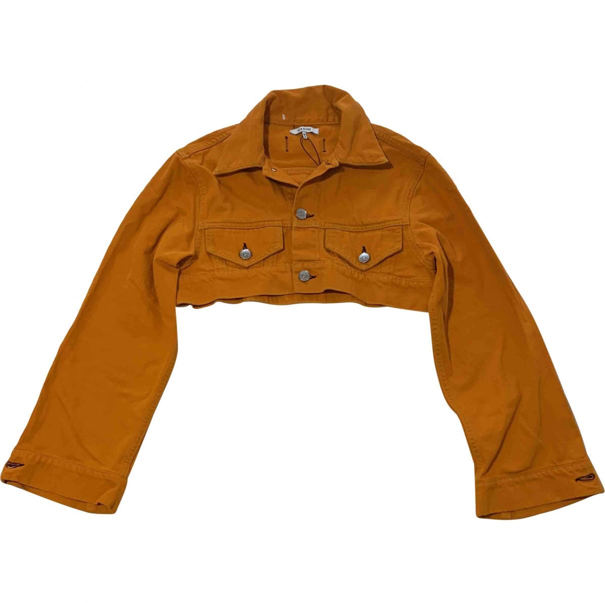 Ganni \N Orange Denim - Jeans jacket for Women 34 FR