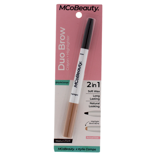 Duo Brow Crayon Plus Highlighter - Medium-Dark