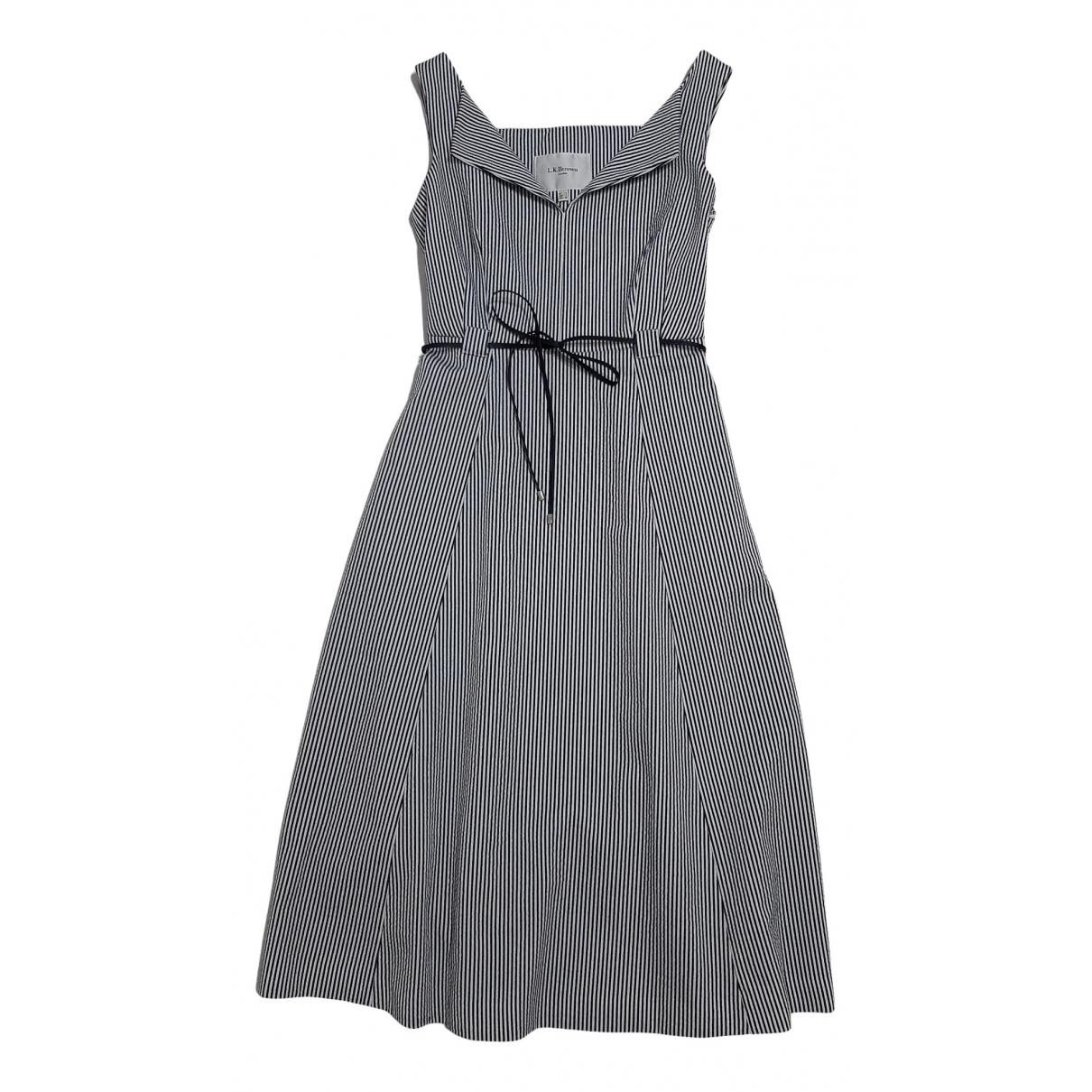 Lk Bennett \N Blue Cotton - elasthane dress for Women 36 FR