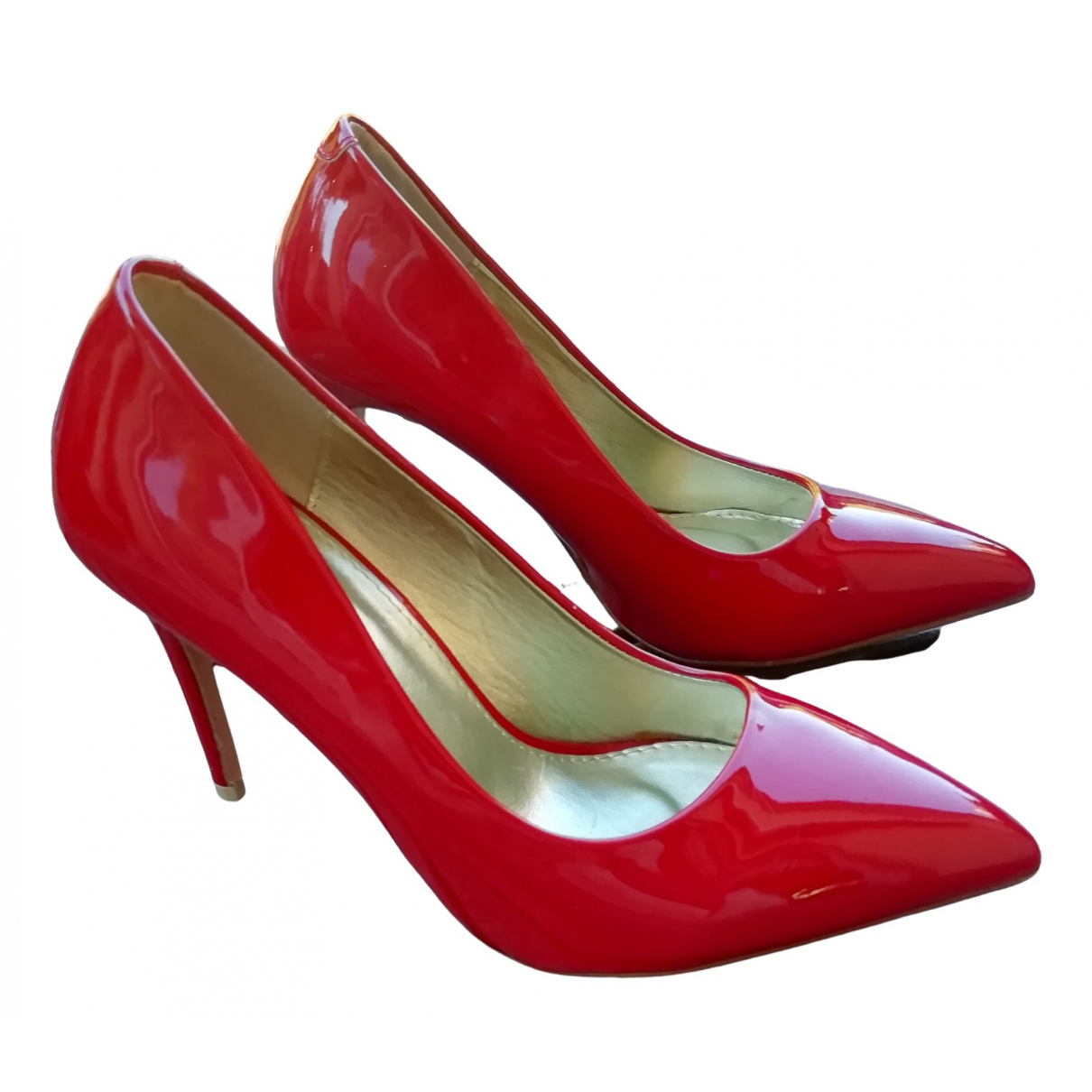 Non Signé / Unsigned N Red Patent leather Heels for Women 39 EU