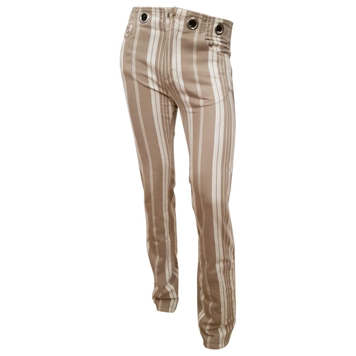 Jean Paul Gaultier \N White Denim - Jeans Trousers for Men 44 IT