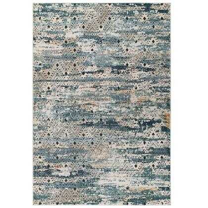 Tribute Collection R-1192A-58 Eisley Rustic Distressed Transitional Diamond Lattice 5x8 Area Rug in Multicolored