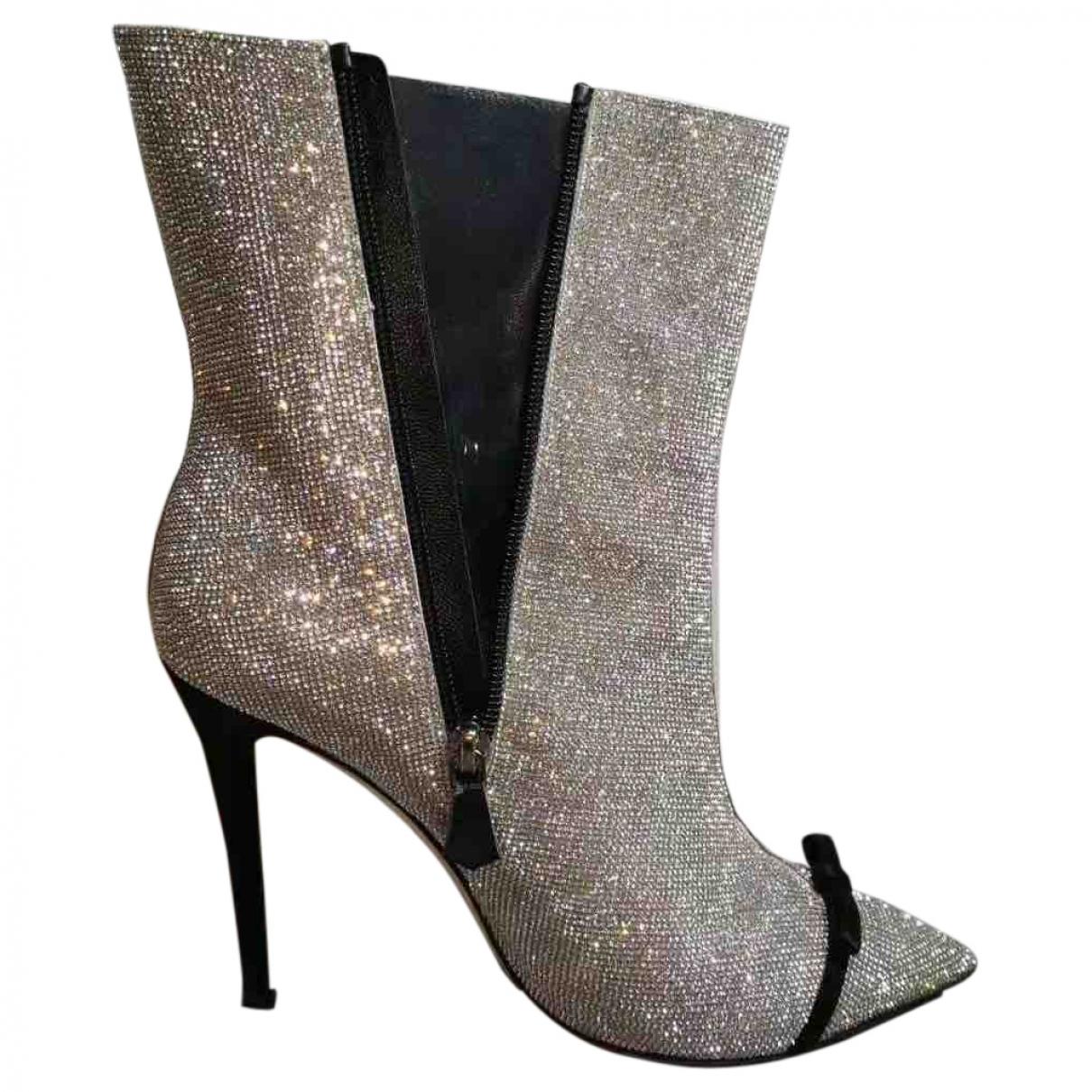 Marco De Vincenzo \N Metallic Leather Ankle boots for Women 40 EU