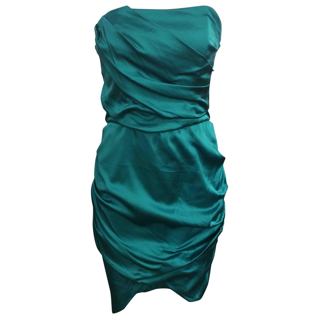 Elisabetta Franchi \N Green Silk dress for Women 46 IT