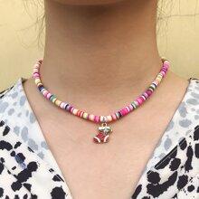 Weihnachten Halskette mit Farbblock