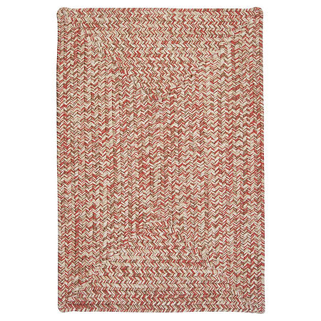 Colonial Mills Blaise Tweed Reversible Indoor/Outdoor Braided Rug, One Size , Red