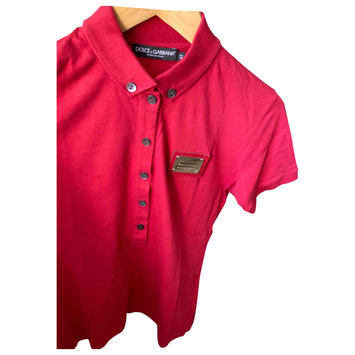 Dolce & Gabbana \N Red Cotton  top for Women 42 IT