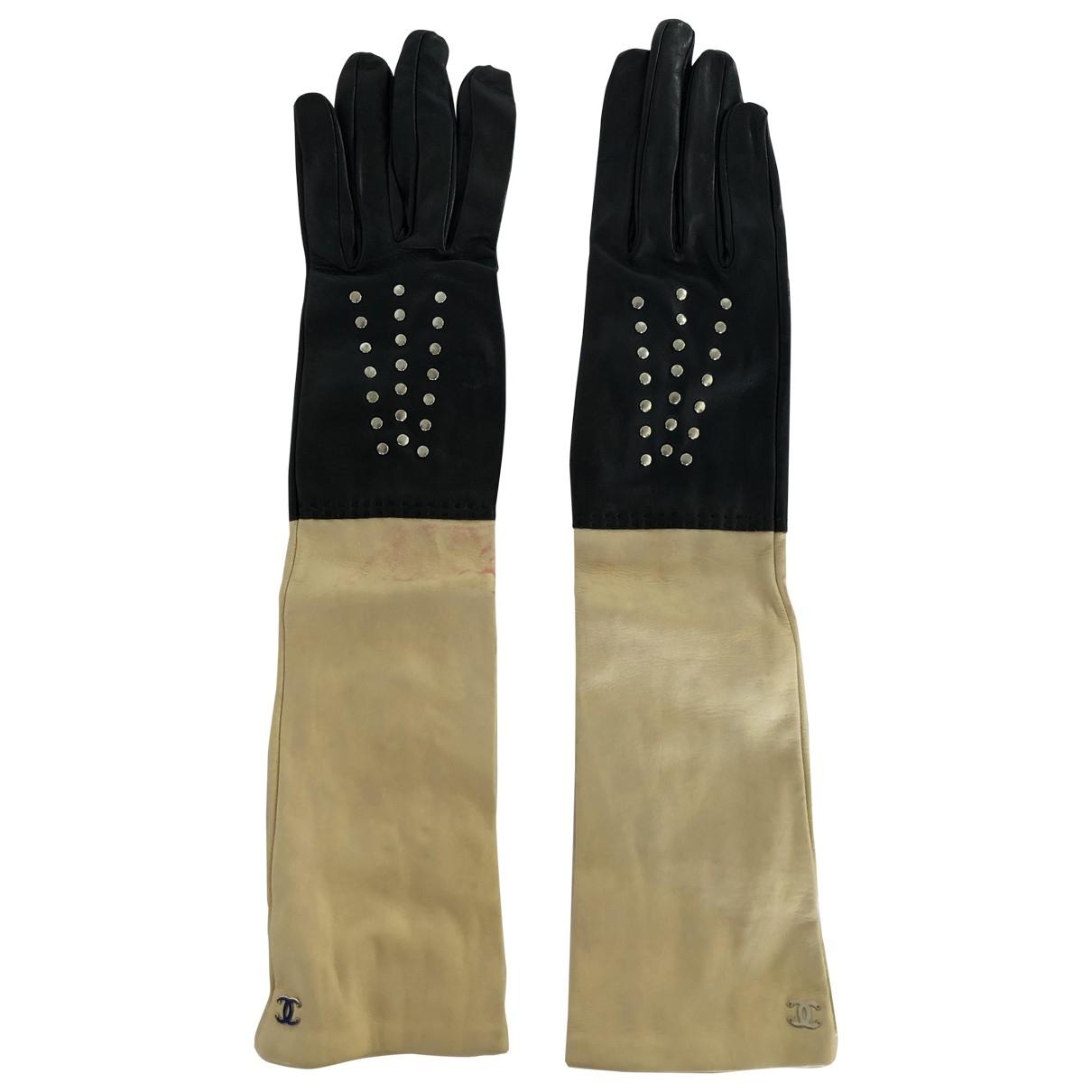 Chanel \N Handschuhe in  Schwarz Leder