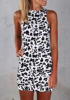 Leopard Sleeveless Mini Dress