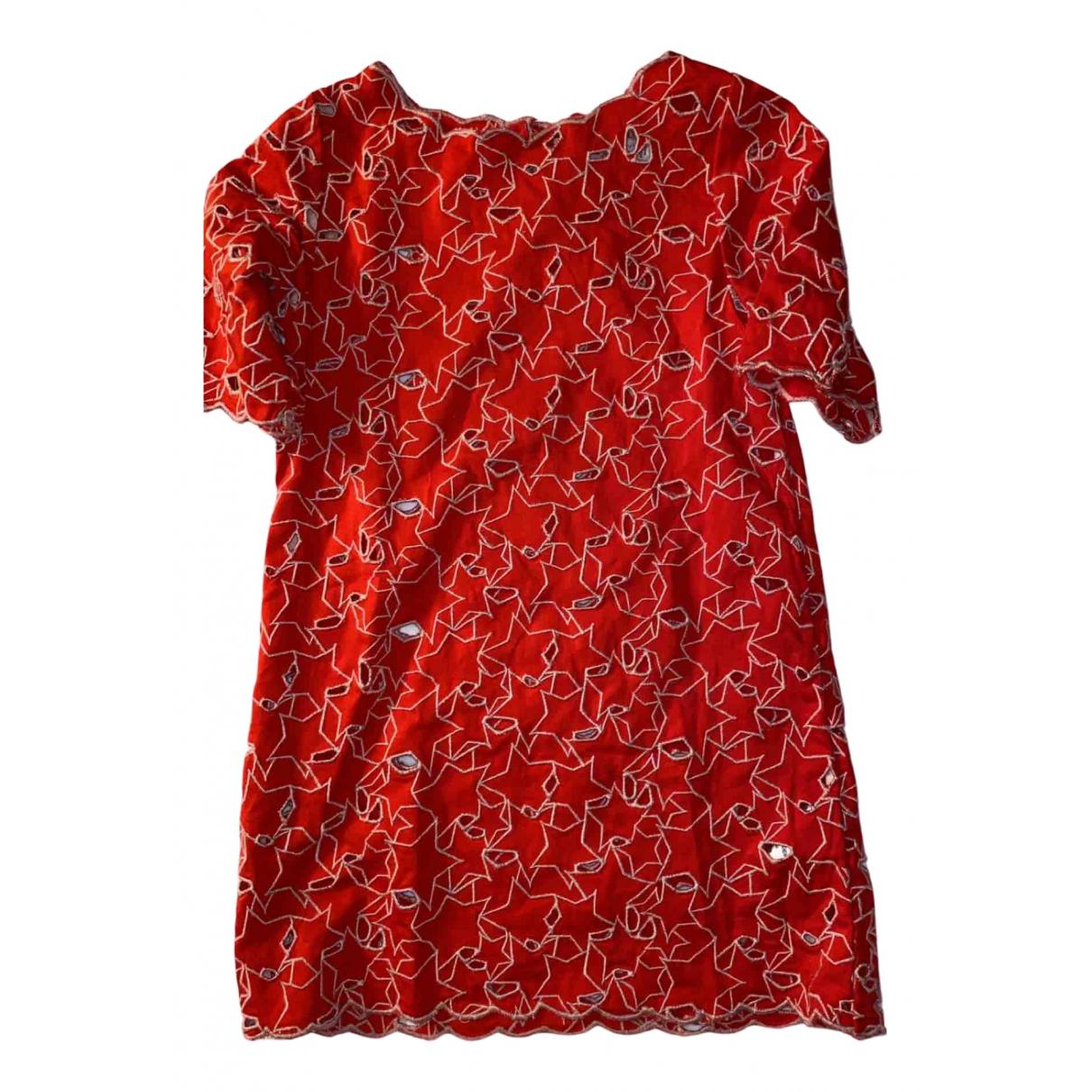 Stella Mccartney - Robe    pour enfant en coton - rouge