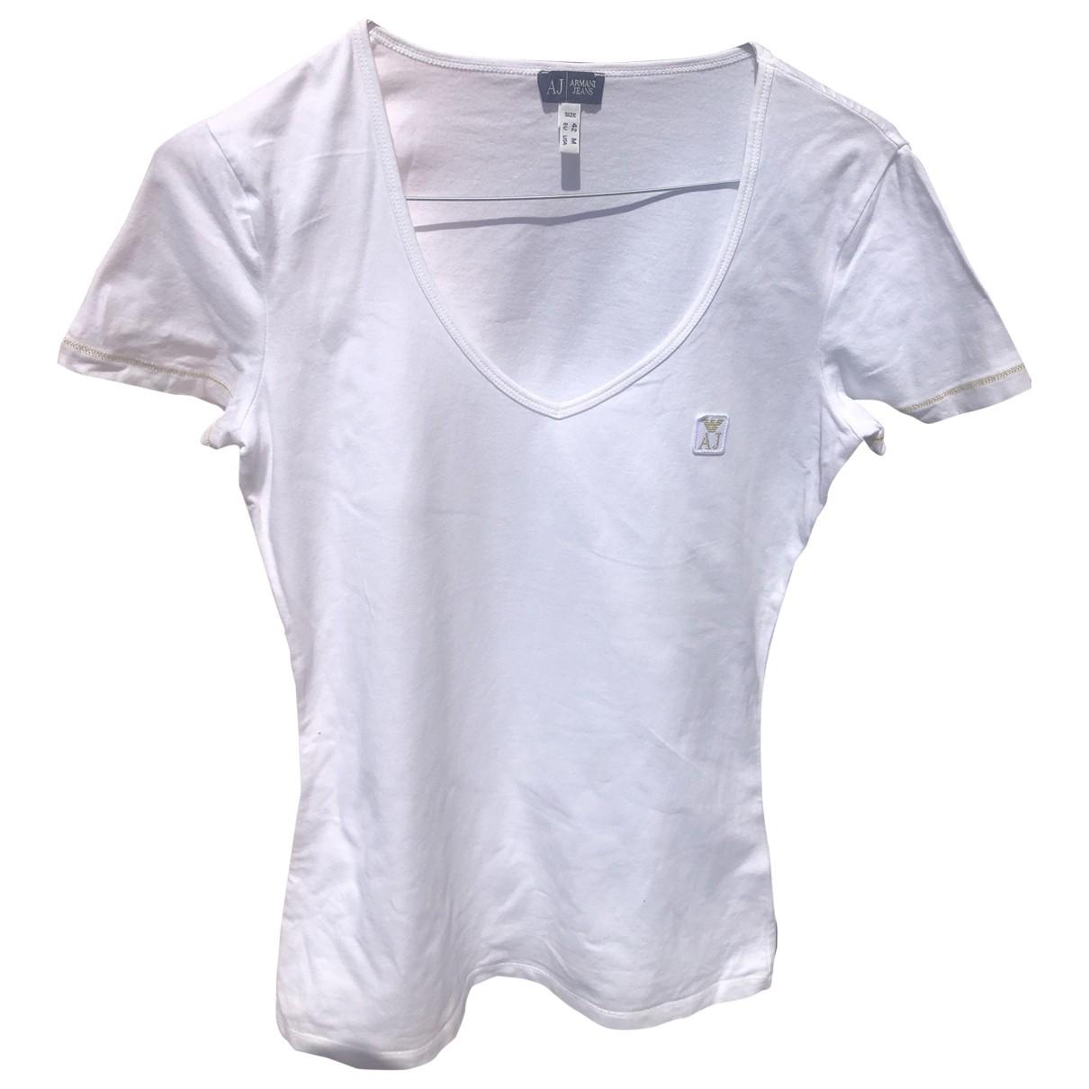 Armani Jeans \N Top in  Weiss Baumwolle
