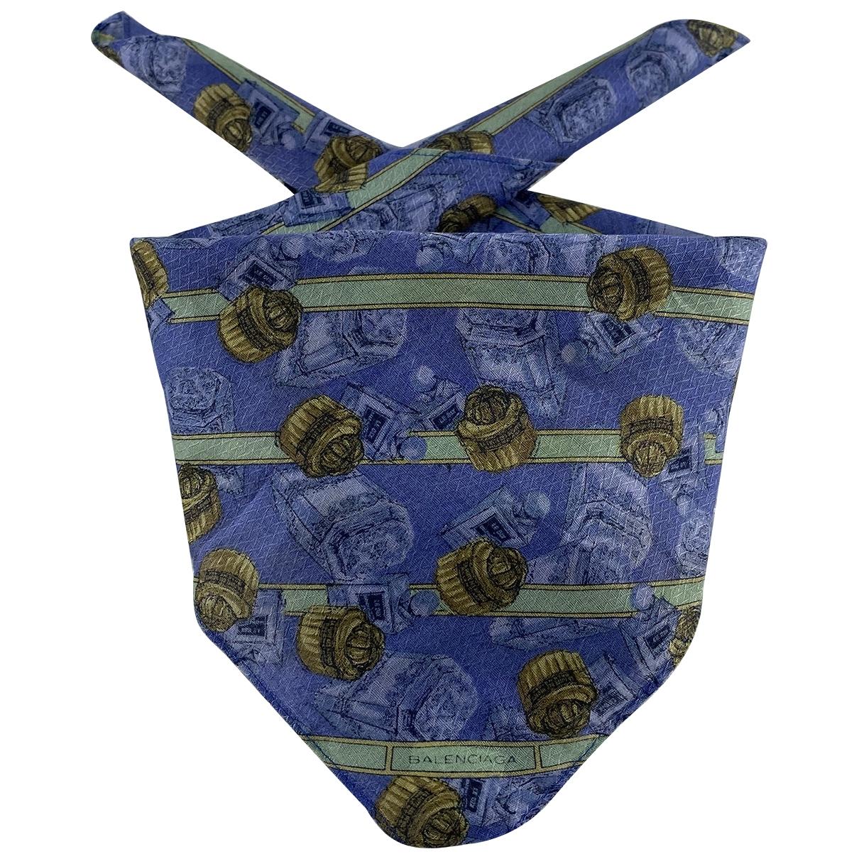Balenciaga \N Schal in  Blau Baumwolle