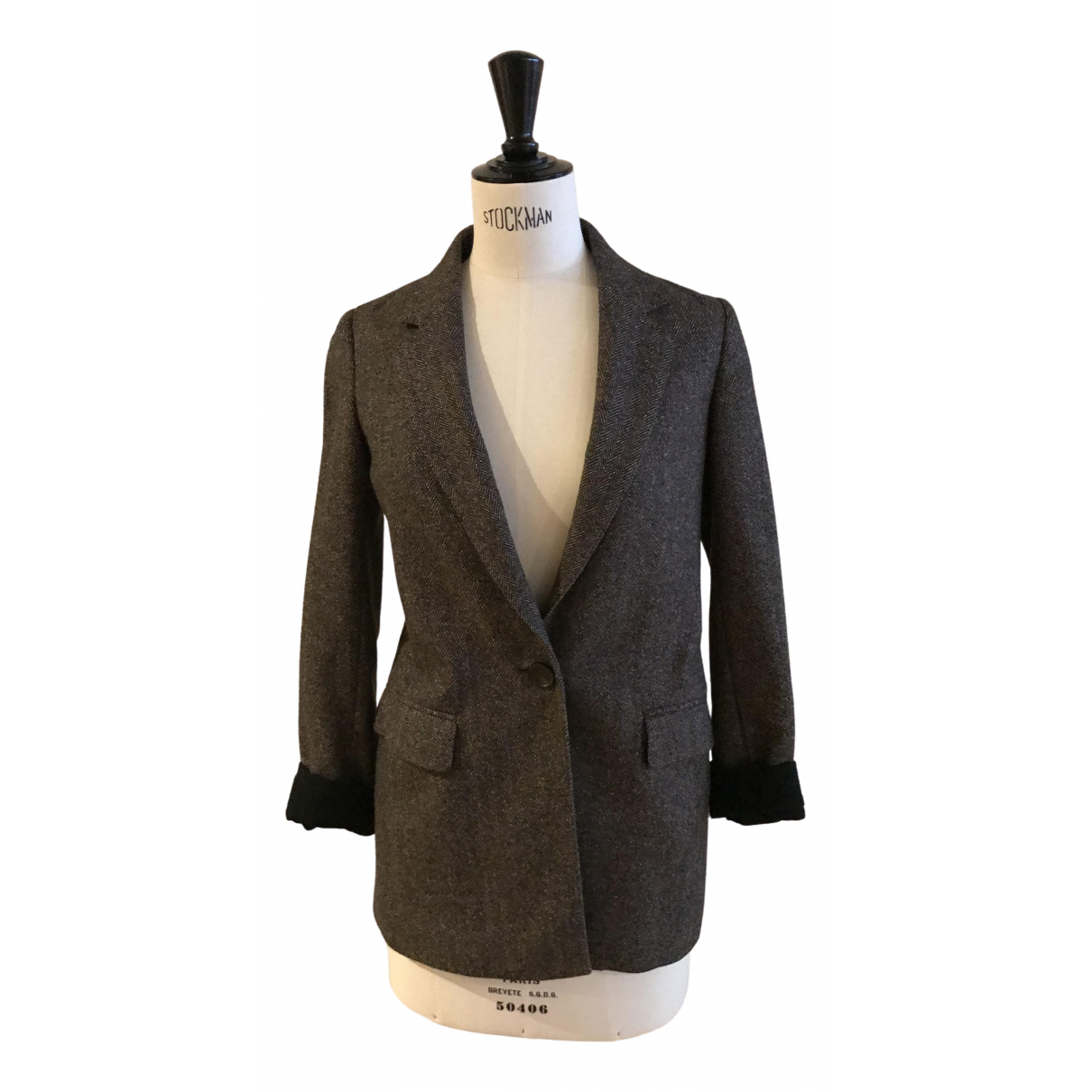 Massimo Dutti \N Brown Wool jacket for Women 34 FR