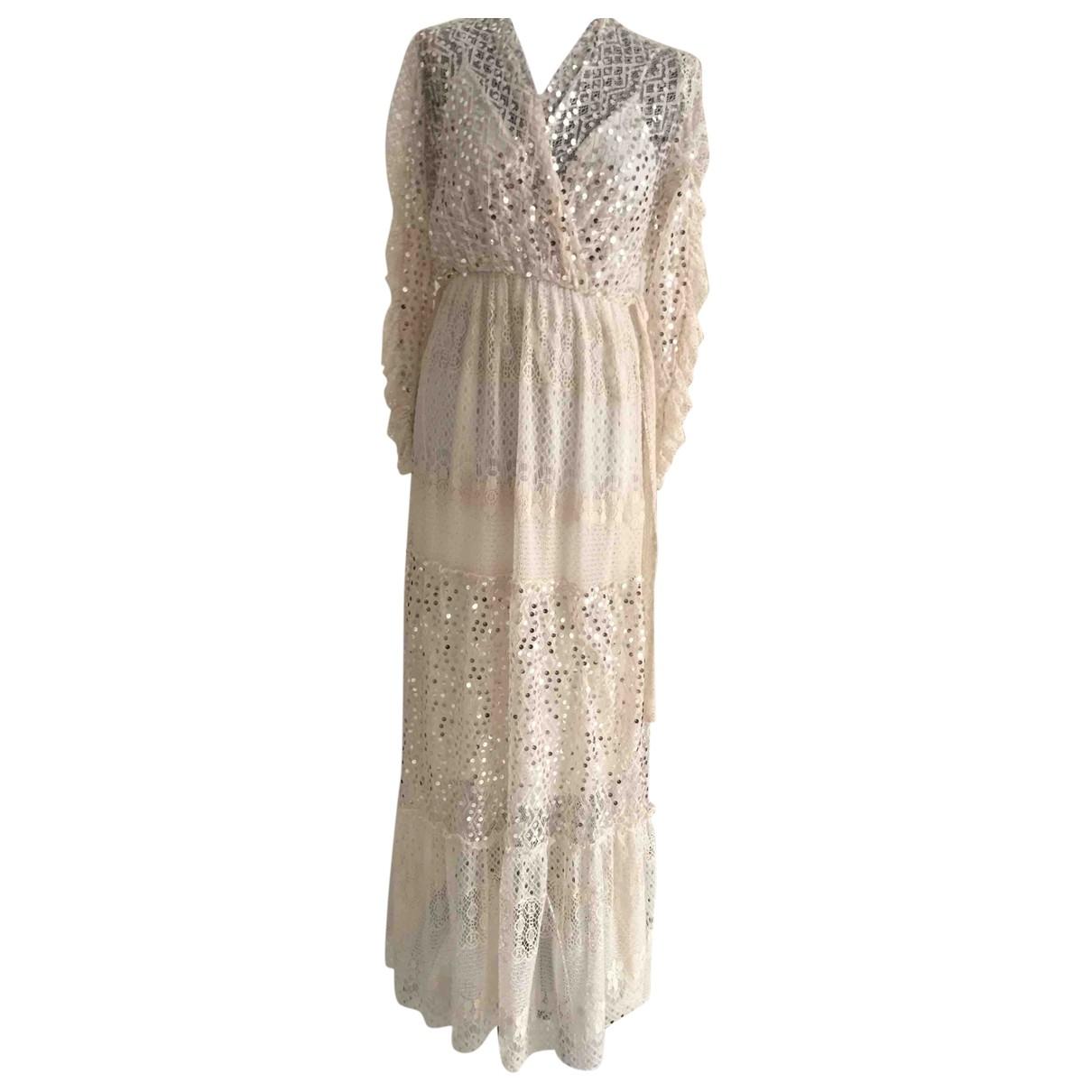 Autre Marque \N Beige Lace dress for Women One Size FR