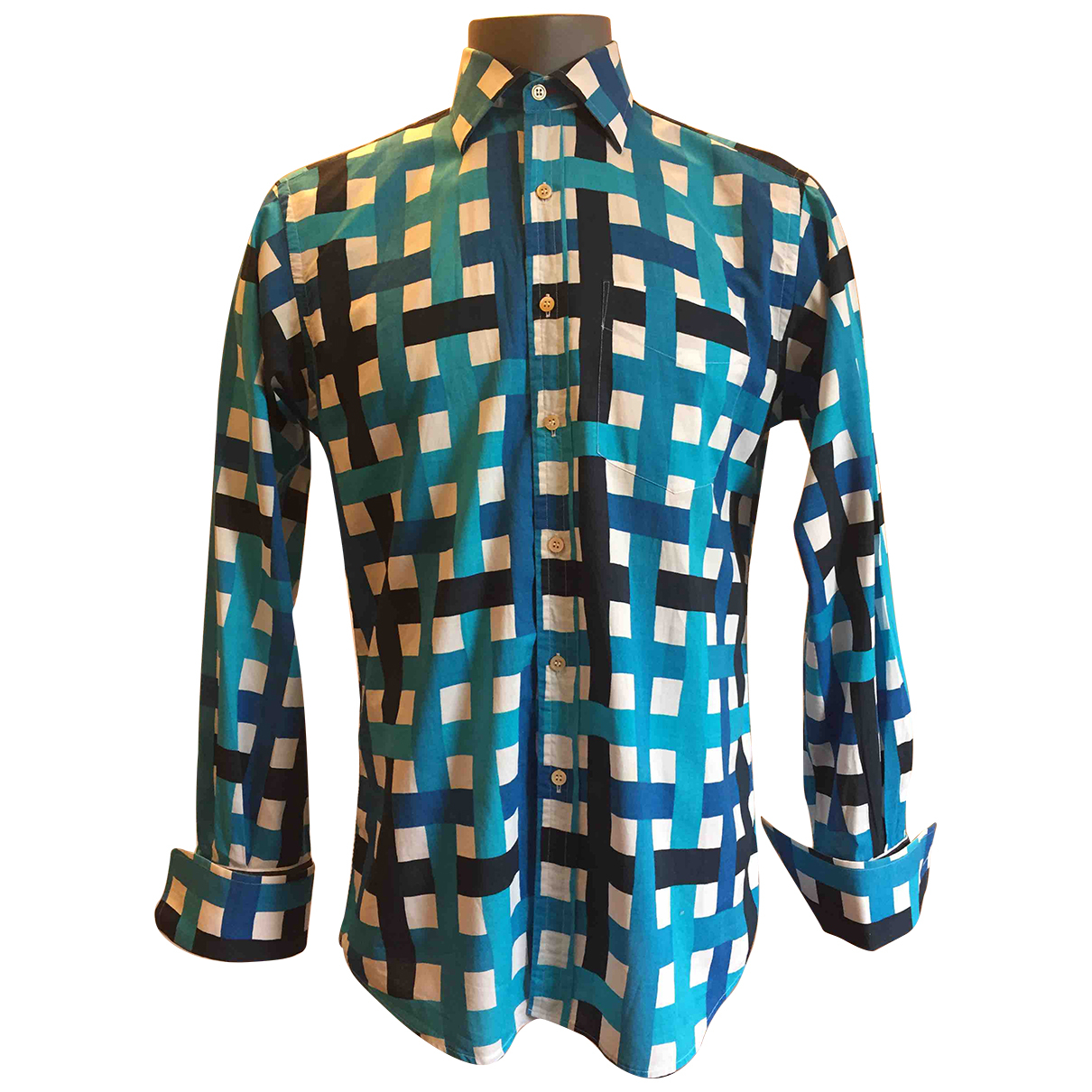 Paul Smith N Turquoise Cotton Shirts for Men 15.5 UK - US (tour de cou / collar)