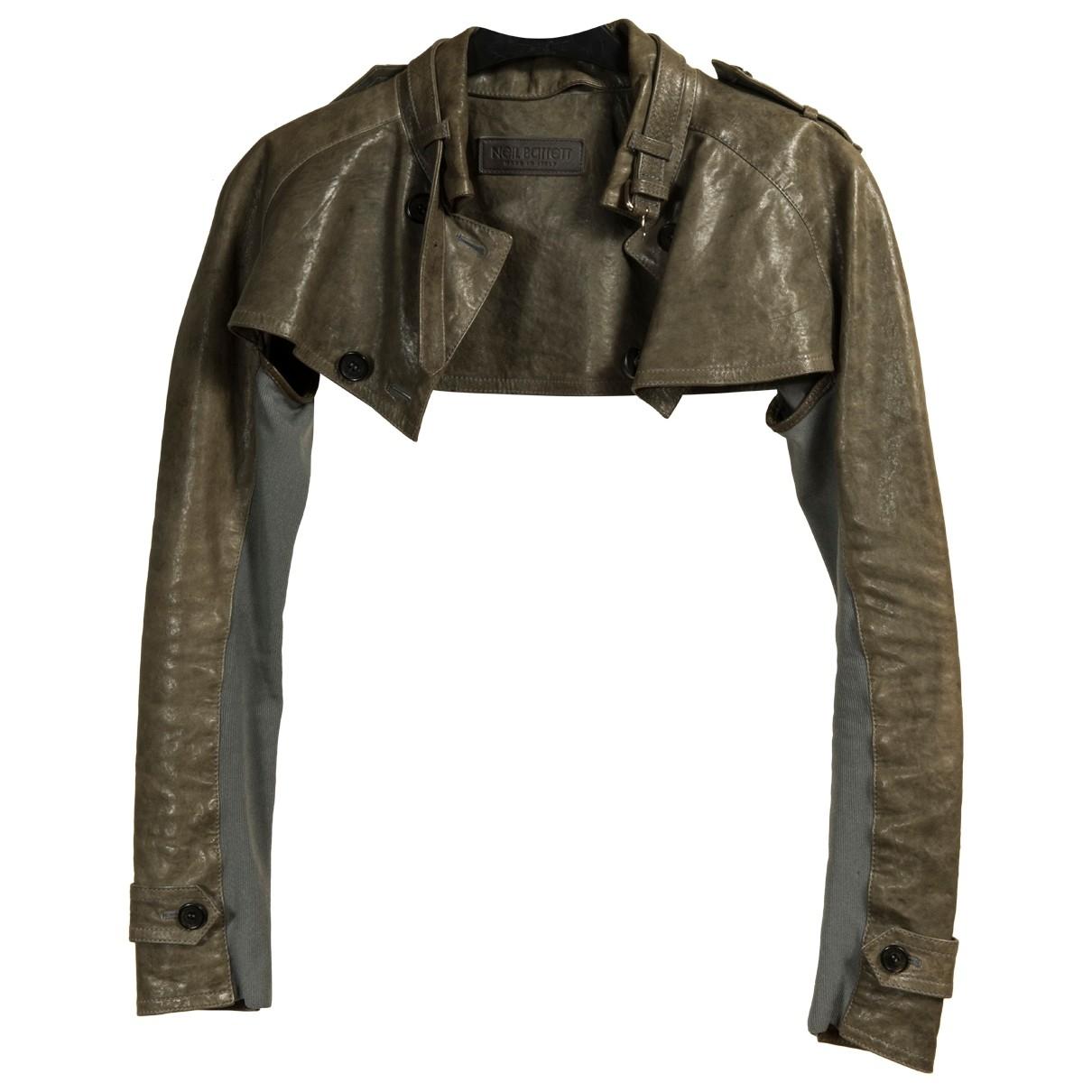 Neil Barrett - Veste   pour femme en cuir - vert