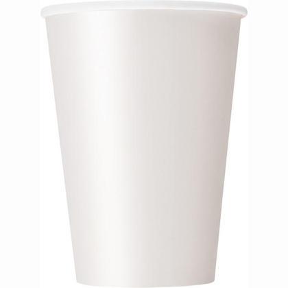 Party Paper Cup 12oz White Solid 10Pcs