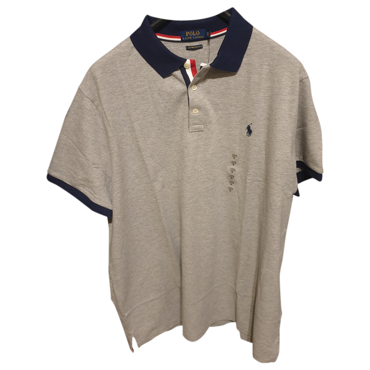 Polo en Algodon Gris Ralph Lauren