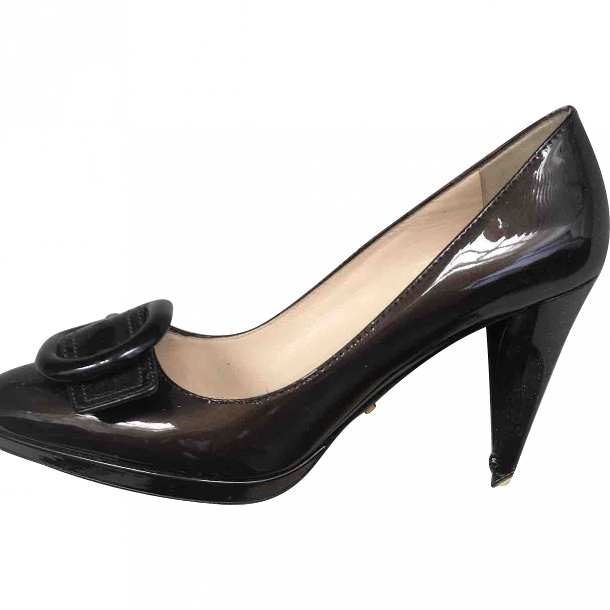 Prada \N Anthracite Patent leather Heels for Women 37 EU